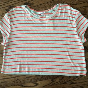 SPLENDID NWT-Stripe Crop Tee